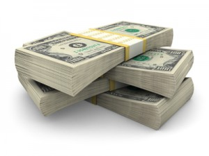 stack of money representing the cost of bankruptcy